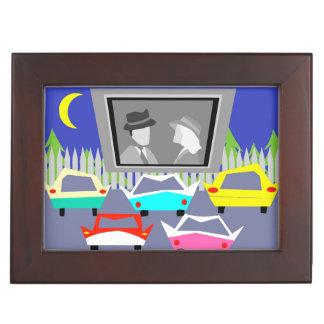 Small Town Drive-In Movie Keepsake Box