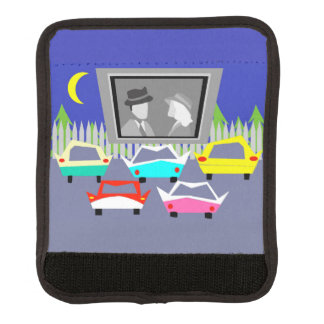 Small Town Drive-In Movie Luggage Handle Wrap