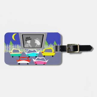 Small Town Drive-In Movie Luggage Tag