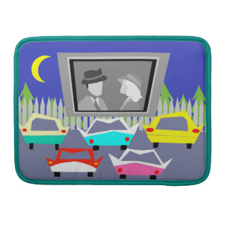 Small Town Drive-In Movie MacBook Sleeve
