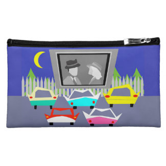 Small Town Drive-In Movie Makeup Bag