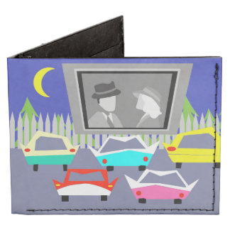Small Town Drive-In Movie Messenger Wallet Tyvek Wallet