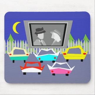 Small Town Drive-In Movie Mousepad