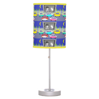 Small Town Drive-In Movie Table Lamp