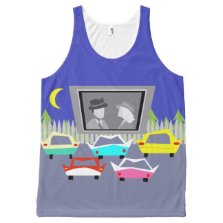 Small Town Drive-In Movie Unisex Tank Top All-Over Print Tank Top