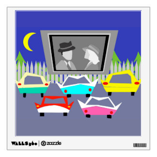 Small Town Drive-In Movie Wall Decal
