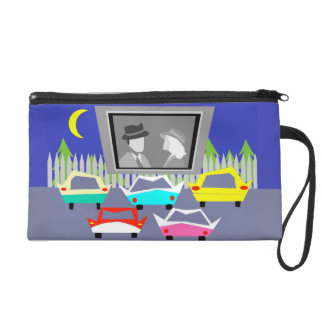 Small Town Drive-In Movie Wristlet