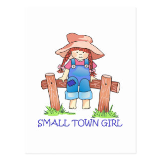 SMALL TOWN GIRL POSTCARD