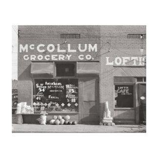 Small Town Grocery Store, 1935 Canvas Print