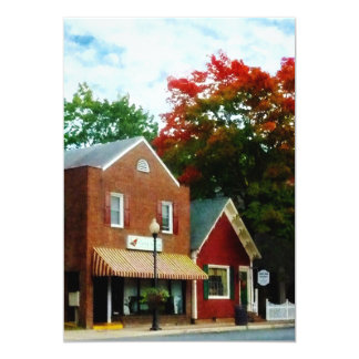 Small Town in Autumn Princess Anne MD Card