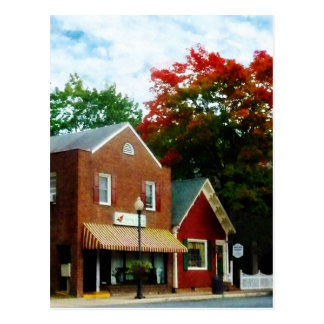 Small Town in Autumn Princess Anne MD Postcard