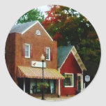 Small Town in Autumn Princess Anne MD Round Stickers