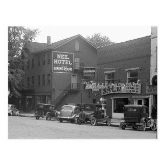 Small Town Ohio, 1930s Postcard