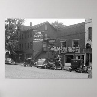 Small Town Ohio, 1930s Print
