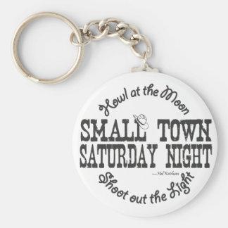 Small Town Saturday Night Keychain