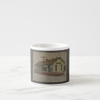 Small Town Train Station Espresso Cup
