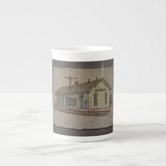 Small Town Train Station Porcelain Mug