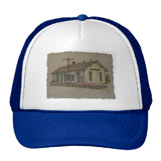 Small Town Train Station Trucker Hat