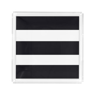 Small Trays Tray Chic Black And White Stripes