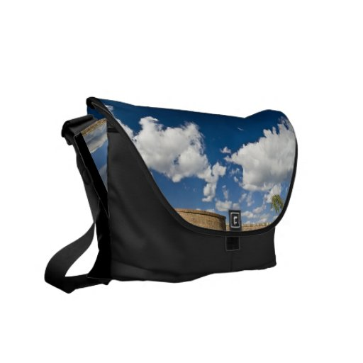 small tree, big sky and brick wall courier bags