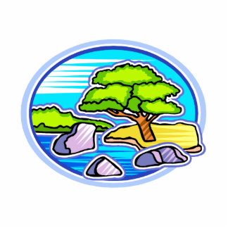 small tree by water bonsai like design.png photo sculptures