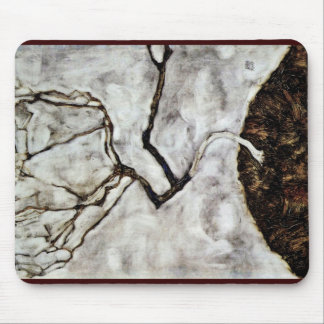 Small Tree In Late Autumn By Schiele Egon Mouse Pads
