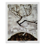 Small Tree In Late Autumn By Schiele Egon Print