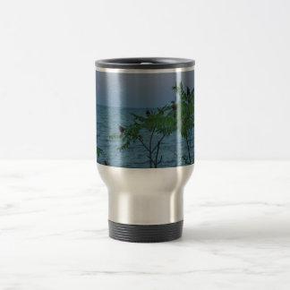 Small Trees on the Lakeshore Travel Mug