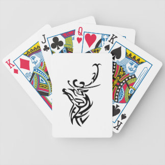 SMALL TRIBAL DEER BICYCLE PLAYING CARDS