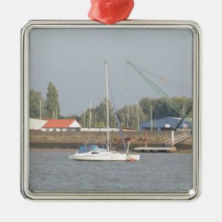 Small Trimaran Metal Ornament