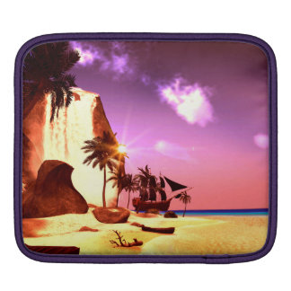 Small tropical island sleeves for iPads