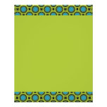 small turquoise green circles personalized flyer