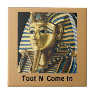 Small Tutankhamen Tile! Ceramic Tile