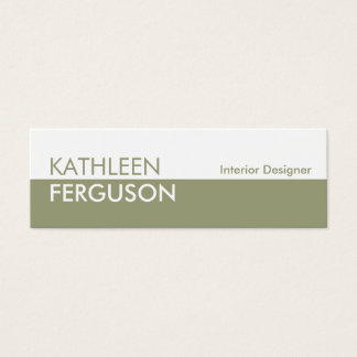 Small two tone color block green professional mini business card