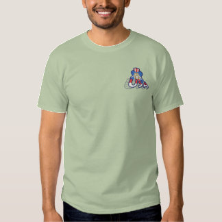 Small Usa with uncle Sam Embroidered T-Shirt