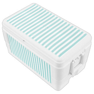 Small Vertical Aqua Stripes Chest Cooler