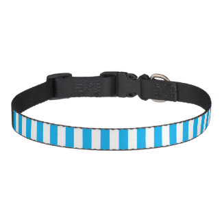Small Vertical Blue Stripes Pet Collar