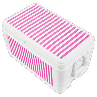 Small Vertical Pink Stripes Chest Cooler