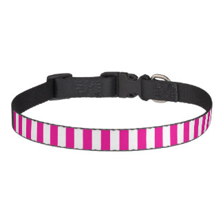 Small Vertical Pink Stripes Pet Collar