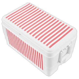 Small Vertical Red Stripes Chest Cooler