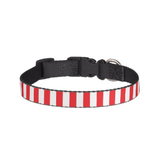 Small Vertical Red Stripes Pet Collar