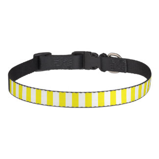 Small Vertical Yellow Stripes Pet Collar