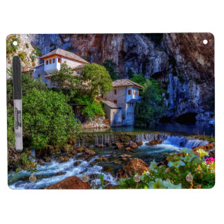 Small village Blagaj on Buna waterfall, Bosnia and Dry Erase Board With Keychain Holder