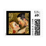 SMALL Vintage Hollywood Couple Postage Stamp