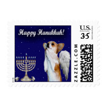 Small W Happy Hanukkah Dott Angel Stamp