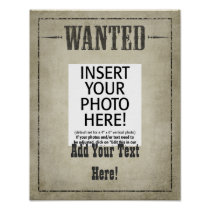 SMALL --- WANTED POSTER template
