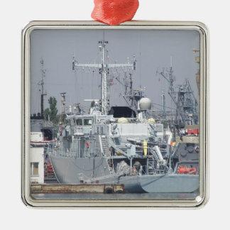 Small Warship Metal Ornament