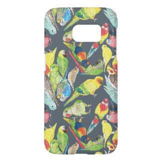 Small Watercolor Parrots Samsung Galaxy S7 Case