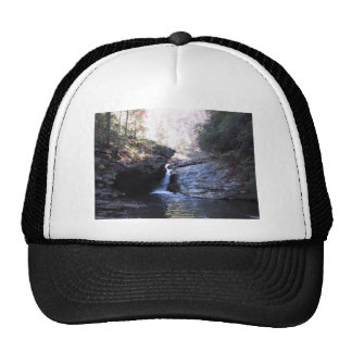 Small Waterfall Between Rocky Outcroppings Trucker Hat