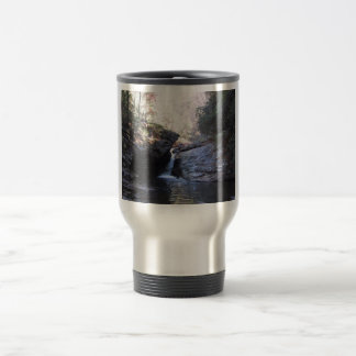 Small Waterfall Between Rocky Outcroppings Coffee Mugs